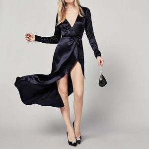 Reformation Marni Silk Wrap Dress